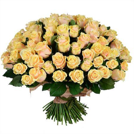 Bouquet 101 creamy roses