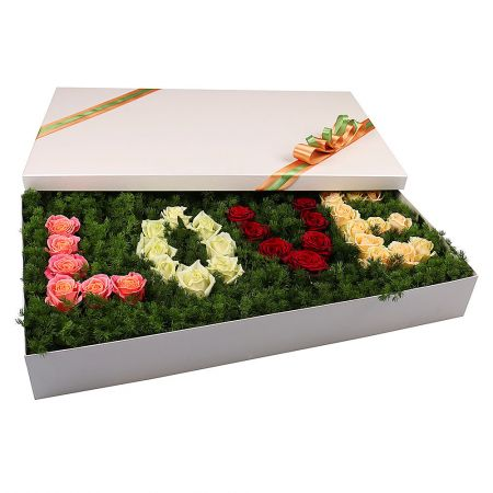 Order delightful bouquet Love box with delivery to ane city