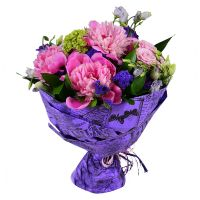 Order delicate bouquet 'Pink sunset' with delivery