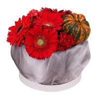 Arrangement ''With pumpkin in red tones'' with delivery