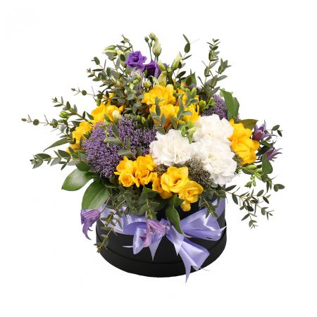 Order the flowers in a box