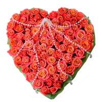 Bouquet Angel  heart 75 roses