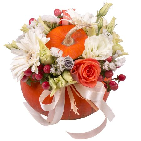 Bouquet Pumpkin with flowers